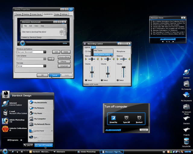 Alien Theme for Windows XP